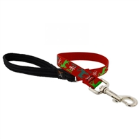 "Lupine 3/4"" Happy Holidays Red 2' Traffic Lead"