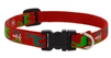 "Lupine 1/2"" Happy Holidays Red 6-9"" Adjustable Collar"