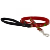 "Lupine 1/2"" Happy Holidays Red 6' Padded Handle Leash"