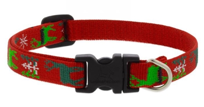 "Lupine 1/2"" Happy Holidays Red 8-12"" Adjustable Collar"