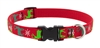 "Lupine 3/4"" Happy Holidays Red 9-14"" Adjustable Collar"