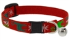 "Lupine 1/2"" Happy Holidays Red Cat Safety Collar with Bell"