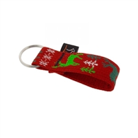 "Lupine 1"" Happy Holidays Red Keychain"