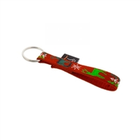 "Lupine 1/2"" Happy Holidays Red Keychain"