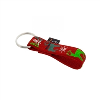 "Lupine 3/4"" Happy Holidays Red Keychain"