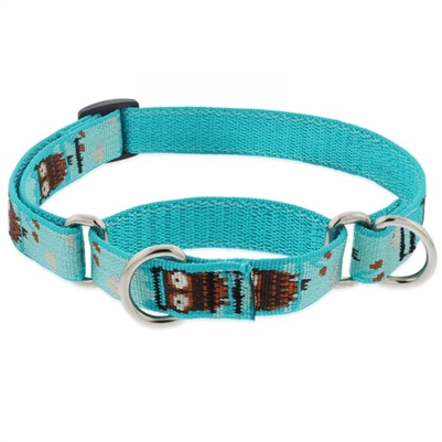 "Lupine 3/4"" Hoot 10-14"" Martingale Training Collar MicroBatch"