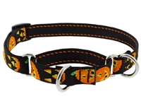 "Lupine 3/4"" Jack O Lantern 14-20"" Martingale Training Collar"