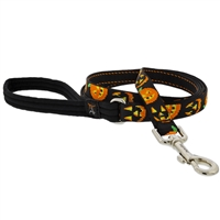 "Lupine 3/4"" Jack O Lantern 4' Padded Handle Leash"