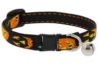 "Lupine 1/2"" Jack O Lantern Cat Safety Collar with Bell"