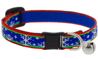 "Lupine 1/2"" Let it Snow Cat Safety Collar with Bell"