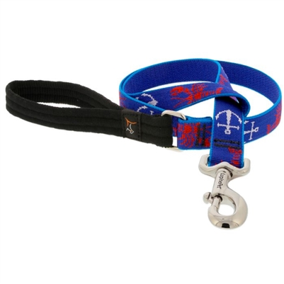 "Lupine 1"" Lobstahs 6' Long Padded Handle Leash - Large Dog LIMITED EDITION"