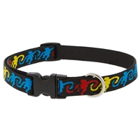 "Retired LupinePet 3/4"" Monkey Business 15-25"" Adjustable Collar - Medium Dog"