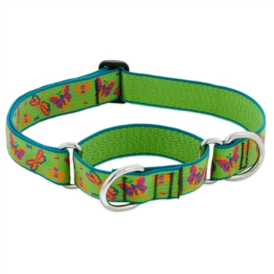 "Retired Lupine 1"" Meadow 15-22"" Martingale Training Collar - Large Dog"
