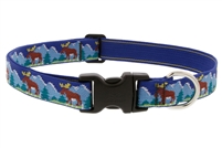 "Lupine Moose Mania 12-20"" Adjustable Collar - Large Dog LIMITED EDITION"