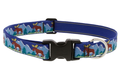 "Lupine Moose Mania 16-28"" Adjustable Collar - Large Dog LIMITED EDITION"