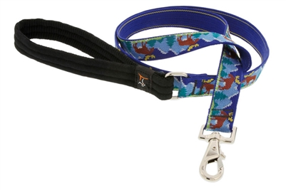 Lupine Moose Mania 4' Long Padded Handle Leash - Large Dog LIMITED EDITION