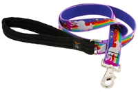 "Retired Lupine 1"" Magic Unicorn 4' Long Padded Handle Leash"