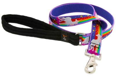 "Lupine 1"" Magic Unicorn 6' Long Padded Handle Leash MicroBatch"