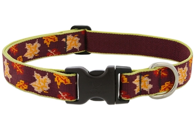 "LupinePet 1"" Oak & Maple 12-20"" Adjustable Collar - Large MicroBatch"