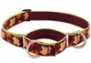 "Lupine 1"" Oak & Maple 19-27"" Combo/Martingale Training Collar - Large Dog LIMITED EDITION"