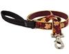 "Retired Lupine 1"" Oak & Maple 4' Long Padded Handle Leash - Large Dog MicroBatch"