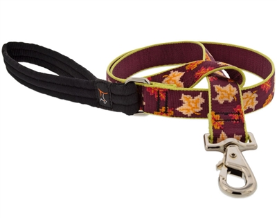 "Retired Lupine 1"" Oak & Maple 6' Long Padded Handle Leash"