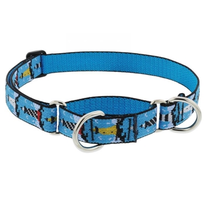 "Lupine 1"" On the Rocks 19-27"" Martingale Training Collar"