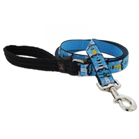 "Lupine 1"" On the Rocks 4' Long Padded Handle Leash"