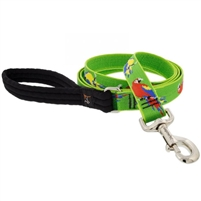 "Lupine 1"" Parrots 6' Long Padded Handle Leash Ships in February 2021"