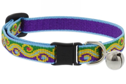 "Lupine 1/2"" Party Time Cat Safety Collar with Bell"