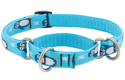 "LupinePet 3/4"" Penguin Party 10-14"" Martingale Training Collar - Medium Dog MicroBatch"