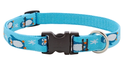 "Lupine 3/4"" Penguin Party 9-14"" Adjustable Collar - Medium Dog LIMITED EDITION"