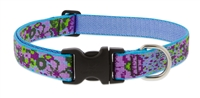 "Retired Lupine 1"" Purple Pansies 16-28"" Adjustable Collar - Large Dog"