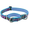 "Retired Lupine 1"" Purple Pansies 19-27"" Martingale Training Collar - Large Dog"