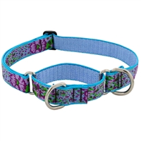 "Lupine 1"" Purple Pansies 19-27"" Combo/Martingale Training Collar - Large Dog LIMITED EDITION"