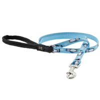"Lupine 1/2"" Penguin Party 4' Padded Handle Leash"
