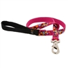 "Lupine 3/4"" Plum Pretty 4' Padded Handle Leash - Medium Dog LIMITED EDITION"