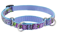 "Retired Lupine 3/4"" Purple Pansies 10-14"" Martingale Training Collar"