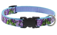 "Retired Lupine 3/4"" Purple Pansies 15-25"" Adjustable Collar"