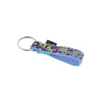 "Retired Lupine 3/4"" Purple Pansies Keychain"
