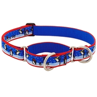 "Retired Lupine 1"" Snow Dance 15-22"" Martingale Training Collar - MicroBatch"