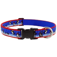 "LupinePet 1"" Snow Dance 16-28"" Adjustable Collar - Large Dog MicroBatch"