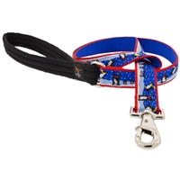 "LupinePet 1"" Snow Dance 6' Long Padded Handle Leash - Large Dog MicroBatch"