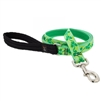 "Lupine 1"" Shamrocks 4' Long Padded Handle Leash Ships in February 2021"