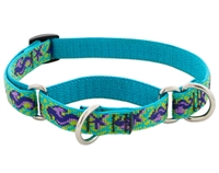 "Retired Lupine 3/4"" Sea Ponies 10-14"" Martingale Training Collar"