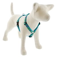 "Retired LupinePet 3/4"" Sea Ponies 14-24"" Roman Harness - Medium Dog"