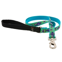 "Retired Lupine 3/4"" Sea Ponies 4' Padded Handle Leash - Medium Dog"