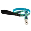 "Retired Lupine 3/4"" Sea Ponies 6' Padded Handle Leash - Medium Dog"