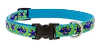 "Retired Lupine 3/4"" Sea Ponies 9-14"" Adjustable Collar - Medium Dog"