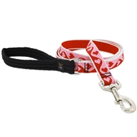 "Lupine 1"" Sweetheart 4' Long Padded Handle Leash"